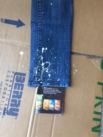 jeans white leg